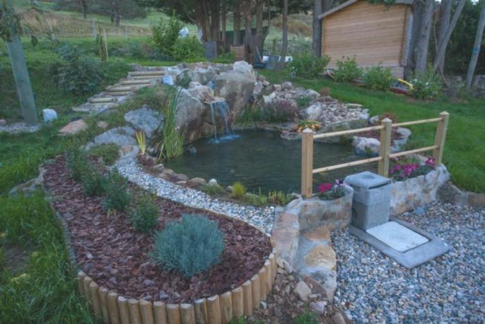 Le bassin de louis - Protection bassin de jardin ...