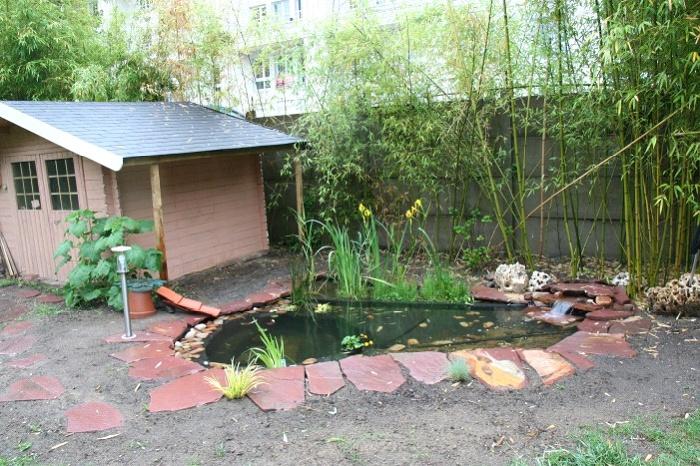 La r alisation du bassin de philippe - Petit bassin d eau dijon ...
