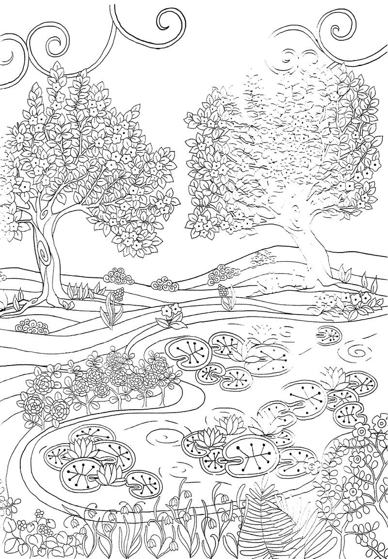 Coloriage pour enfants et adultes zen et anti-stress, mandala
