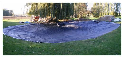 La m tamorphose d 39 un bassin for Bache pour bassin 10x15